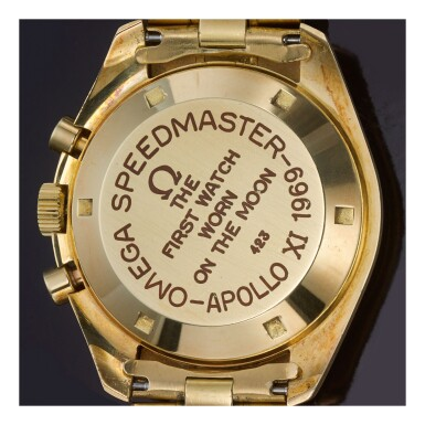 OMEGA    SPEEDMASTER REF 145.022-69 'APOLLO XI', A YELLOW GOLD CHRONOGRAPH WRISTWATCH WITH BRACELET, MADE IN 1969