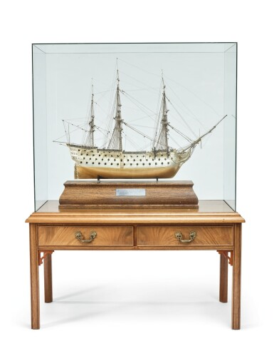 View 5. Thumbnail of Lot 151. A FINE ELIZABETH II PARCEL-GILT SILVER SCALE MODEL OF THE H.M.S VICTORY, DAVID SHAW SILVERWARE LTD. FOR ASPREY & CO., LONDON, 1988.
