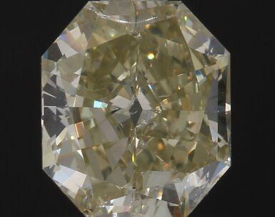 A 1.05 Carat Fancy Brownish Greenish Yellow Cut-Cornered Rectangular Diamond, SI1 Clarity