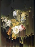 New Order Flowers by a Stone Vase (after Peter Faes, 1786)