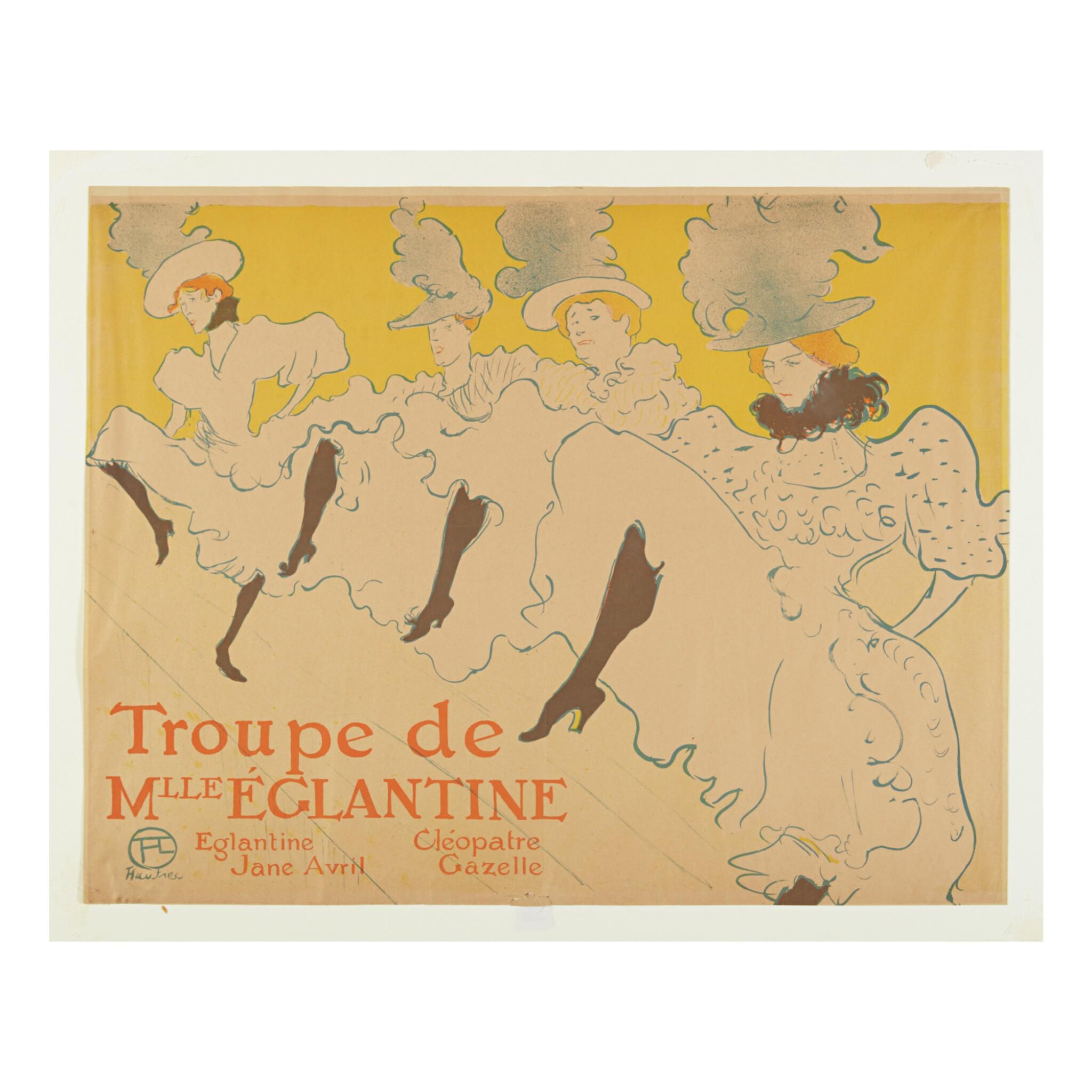 View full screen - View 1 of Lot 177. HENRI DE TOULOUSE-LAUTREC   LA TROUPE DE MADEMOISELLE EGLANTINE (D. 361; ADR. 162; W. P21).