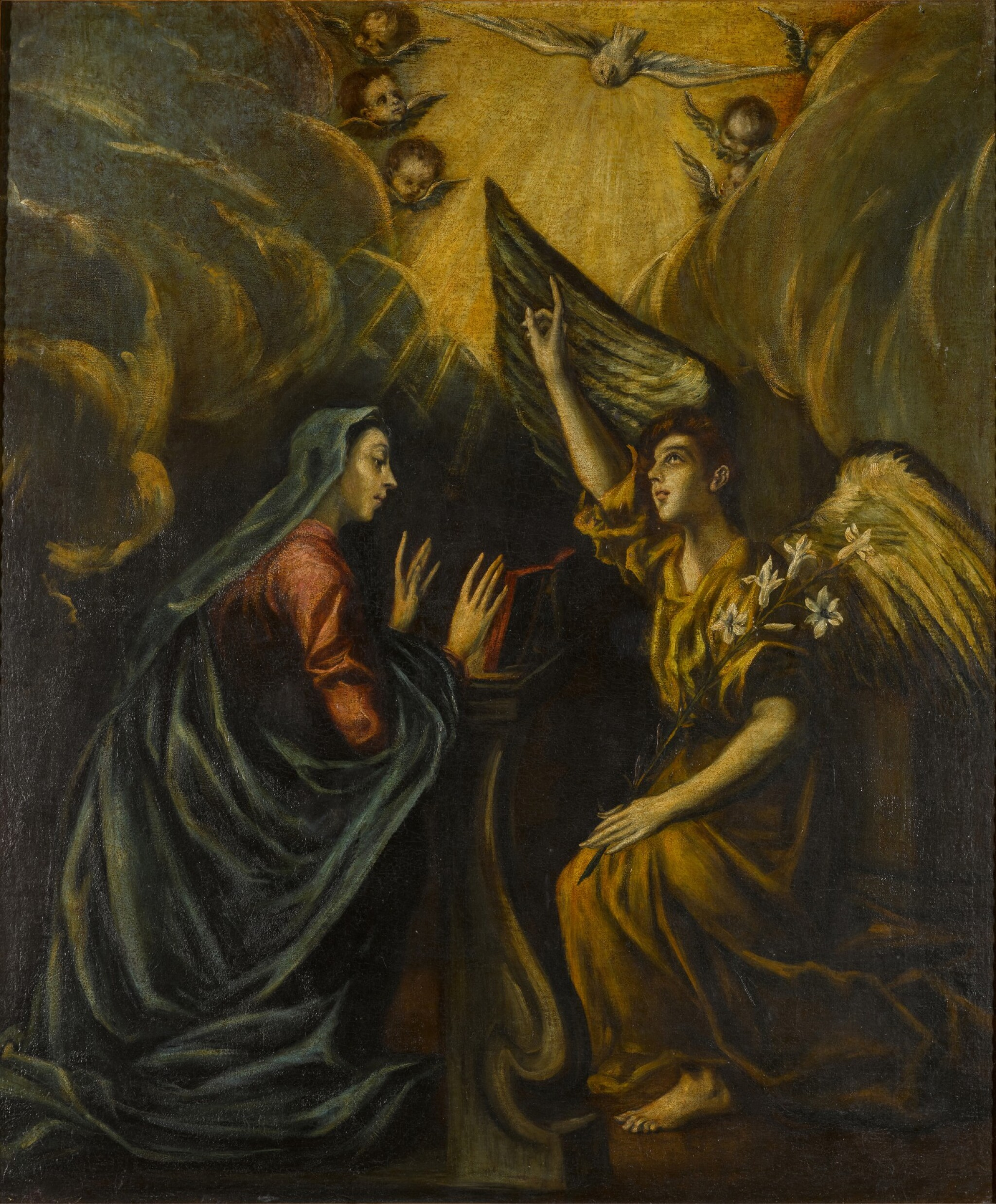 View 1 of Lot 110. The Annunciation.