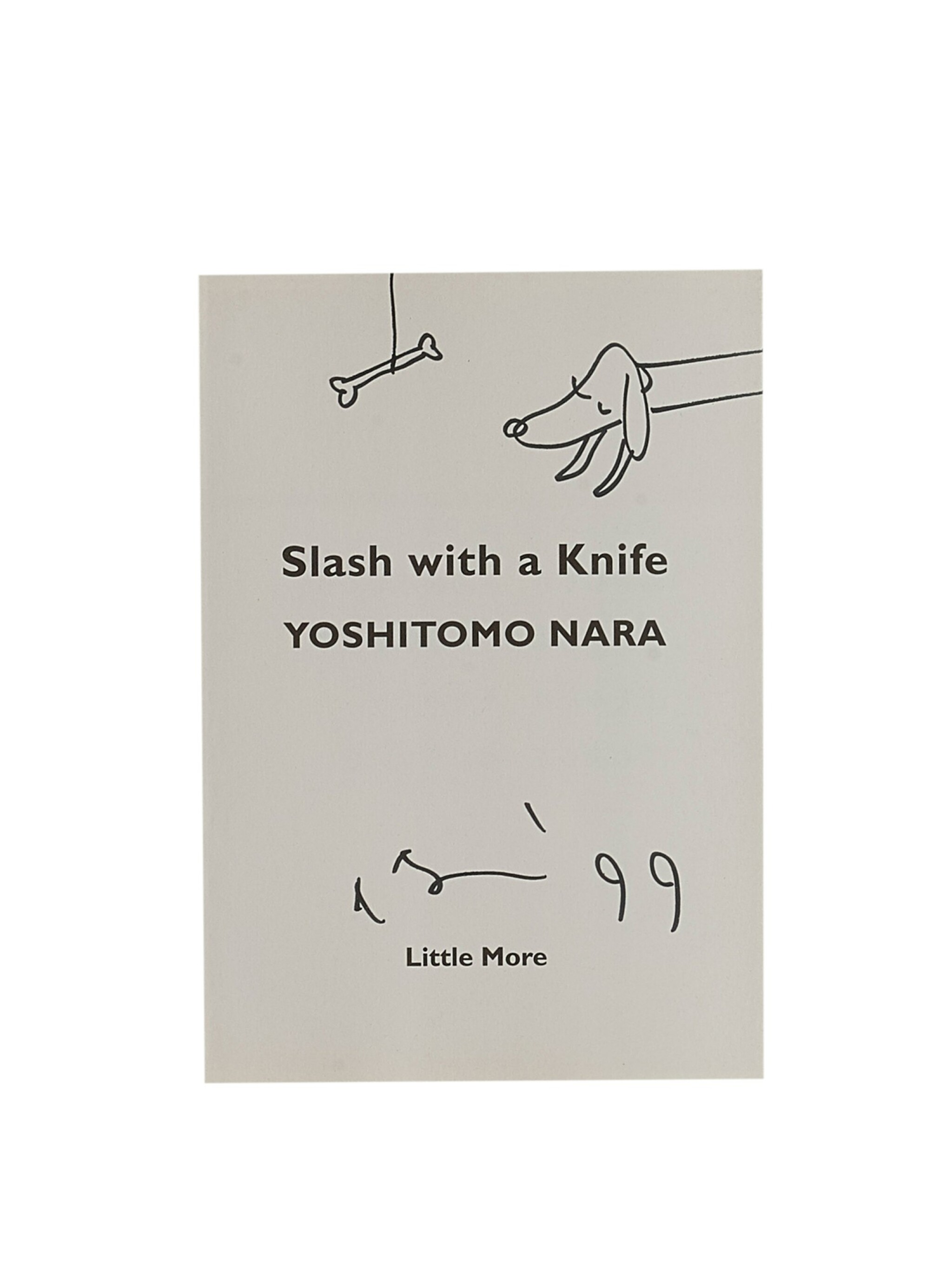 Yoshitomo Nara   用小刀劃開(狗)Slash with a Knife (Dog)
