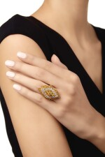 DIAMOND AND COLORED DIAMOND RING, VAN CLEEF & ARPELS