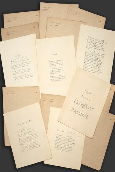 View 1. Thumbnail of Lot 104. MALLARMÉ. Les Poésies, photolithographiées... Paris, 1887. 9 fascicules in-4, en feuilles. Rare édition originale. .
