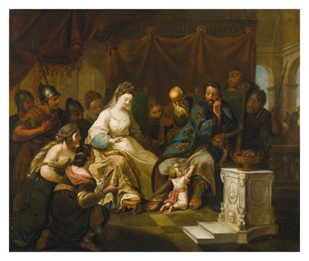ANTON JOHAN TISCHBEIN   MOSES' TRIAL BY FIRE
