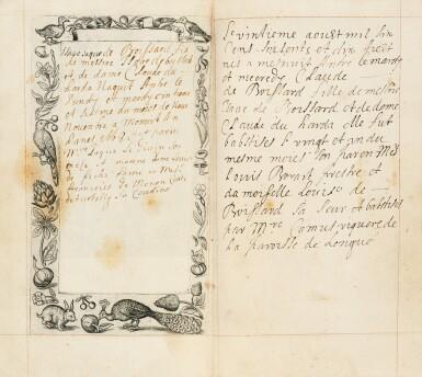 View 19. Thumbnail of Lot 40.  Horae beatissimae... Anvers, 1570.Reliure brodée de la Renaissance aux armes du duc d'Anjou..