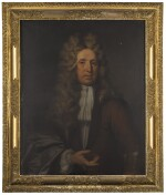CIRCLE OF MICHAEL DAHL | Portrait of a gentleman, half-length, wearing a brown coat
