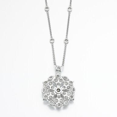 View 3. Thumbnail of Lot 83. Graff | Diamond necklace, 'Snowflake'.