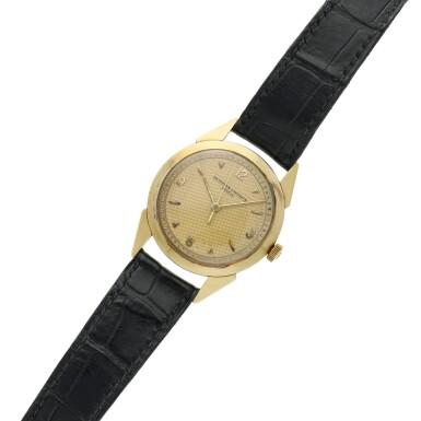View 6. Thumbnail of Lot 117. A yellow gold wristwatch, Circa 1960 .
