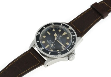 View 6. Thumbnail of Lot 107. ROLEX   REFERENCE 1665 SEA-DWELLER 'GREAT WHITE' A STAINLESS STEEL AUTOMATIC WRISTWATCH WITH DATE, CIRCA 1977.