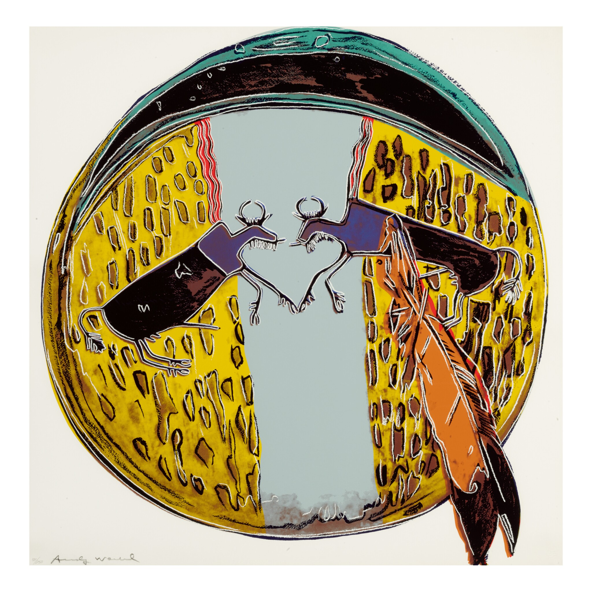 View full screen - View 1 of Lot 295. ANDY WARHOL | PLAINS INDIAN SHIELD (F. & S. II.382).