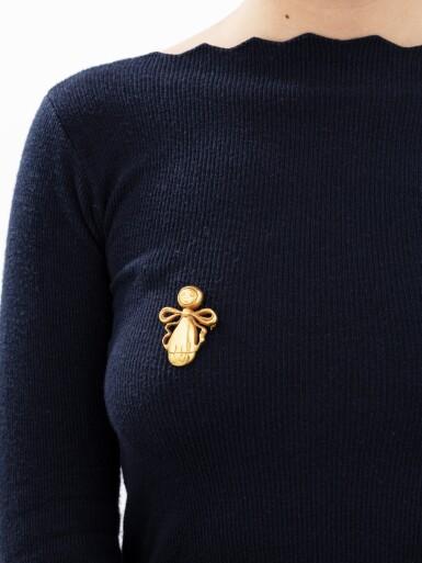 View 5. Thumbnail of Lot 8. Line Vautrin, Brooch [Broche], 'Mi-abeille mi-bonhomme', circa 1945 .
