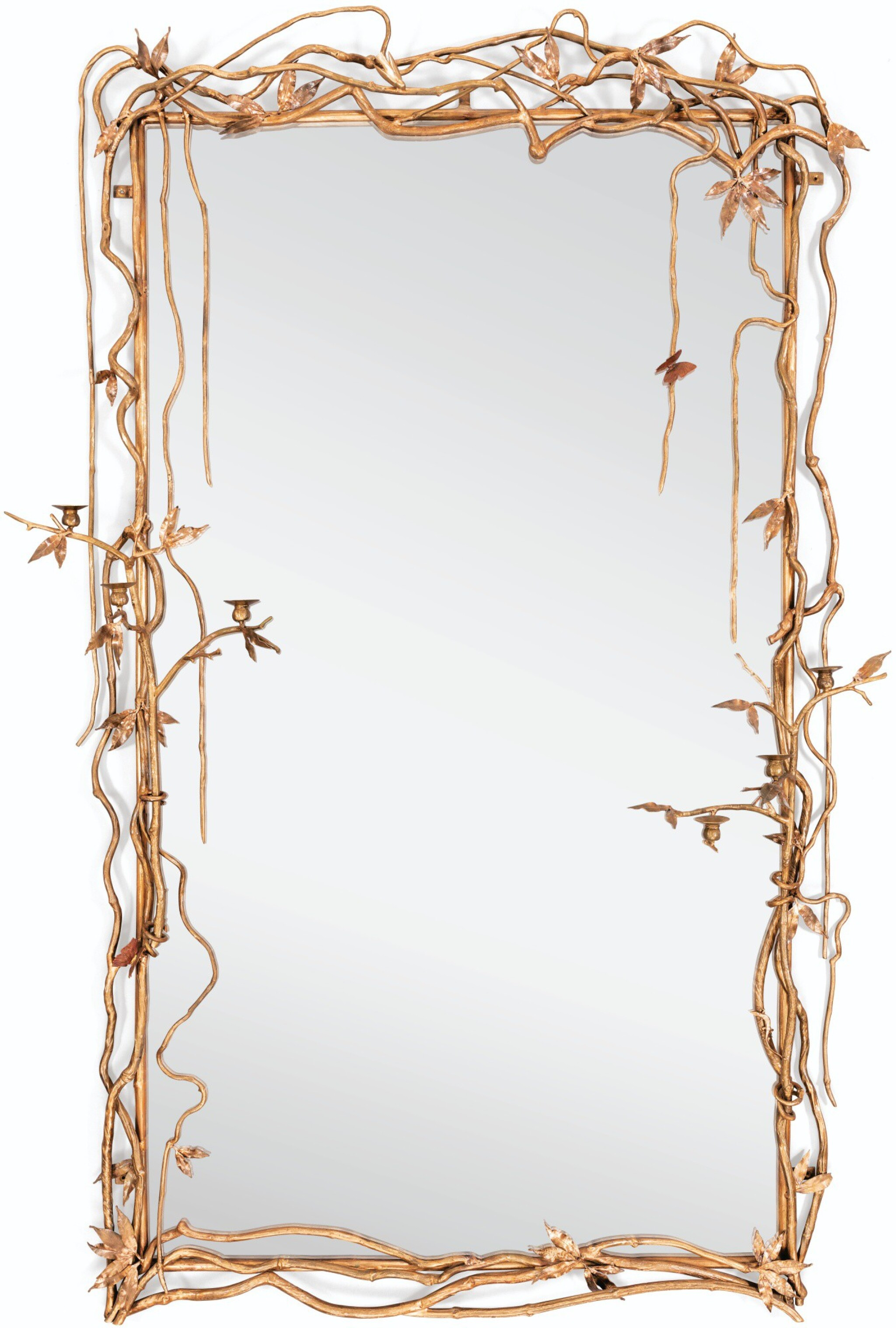 View full screen - View 1 of Lot 50.  CLAUDE LALANNE   UNIQUE MIRROR.