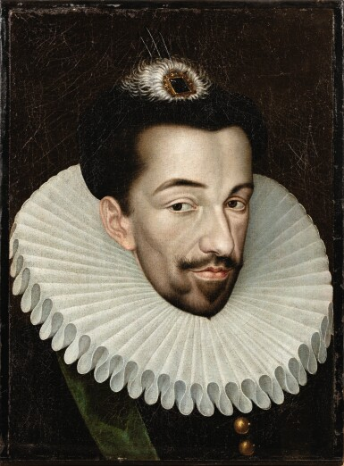 View 1. Thumbnail of Lot 10. Portrait of Henri III (1551-1589) .