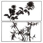 TWO 'TIEHUA' PANELS QING DYNASTY | 清 鑄鐵竹菊紋掛屏一組兩件