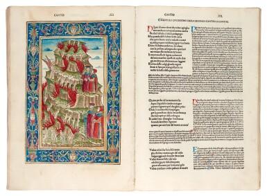 View 3. Thumbnail of Lot 183. Dante, La Commedia, Brescia, 1487, hand-coloured, disbound.