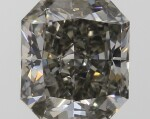 A 1.04 Carat Cut-Cornered Rectangular Modified Brilliant-Cut Fancy Dark Greenish Gray Diamond, SI1 Clarity