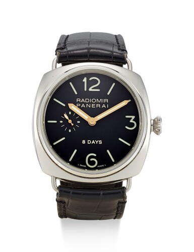 PANERAI | RADIOMIR 8 DAYS, REFERENCE PAM00190, A LIMITED EDITION STAINLESS STEEL WRISTWATCH WITH 8 DAYS POWER RESERVE INDICATION, CIRCA 2005