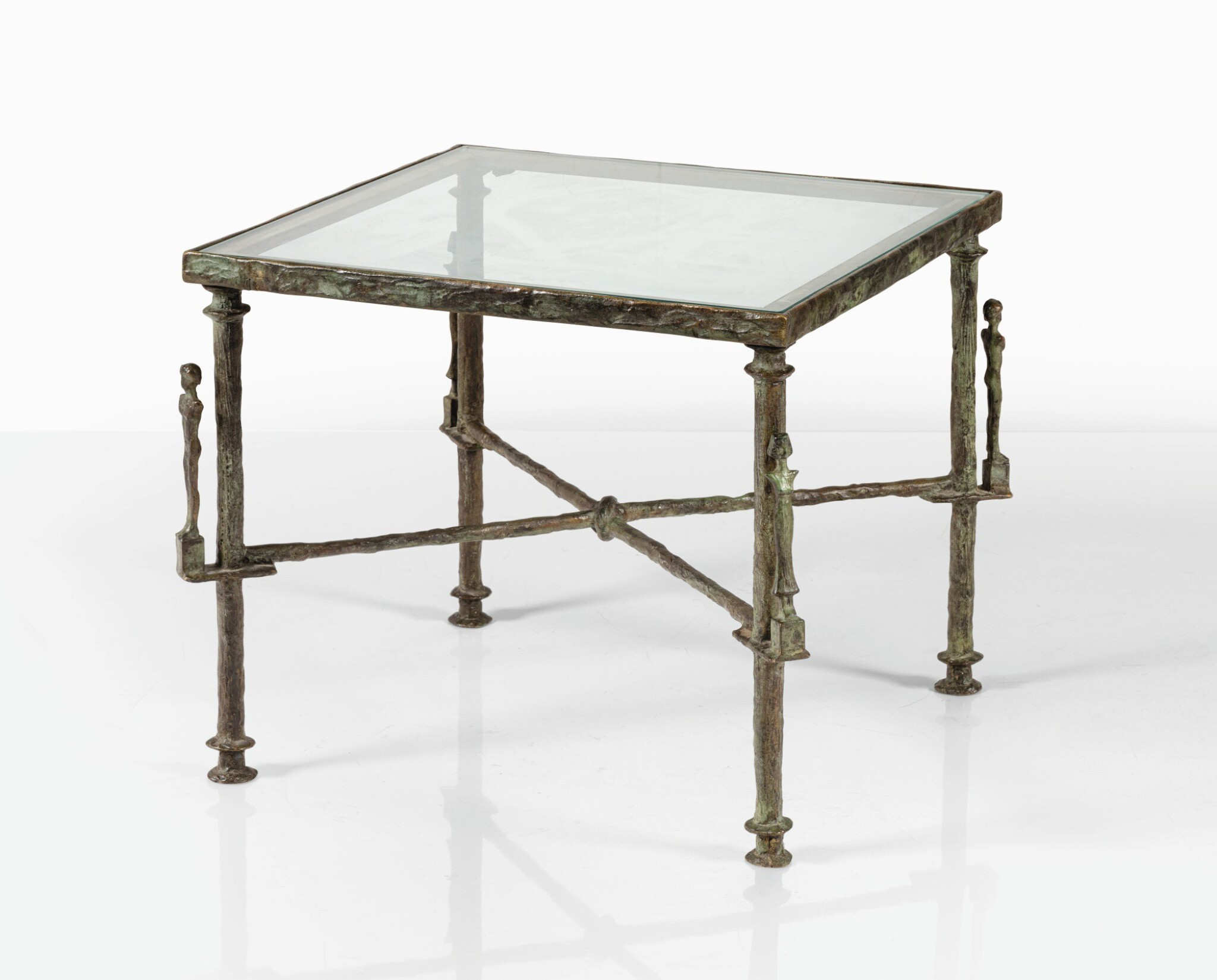 View full screen - View 1 of Lot 107. DIEGO GIACOMETTI | CARIATIDES TABLE  [TABLE AUX CARIATIDES].