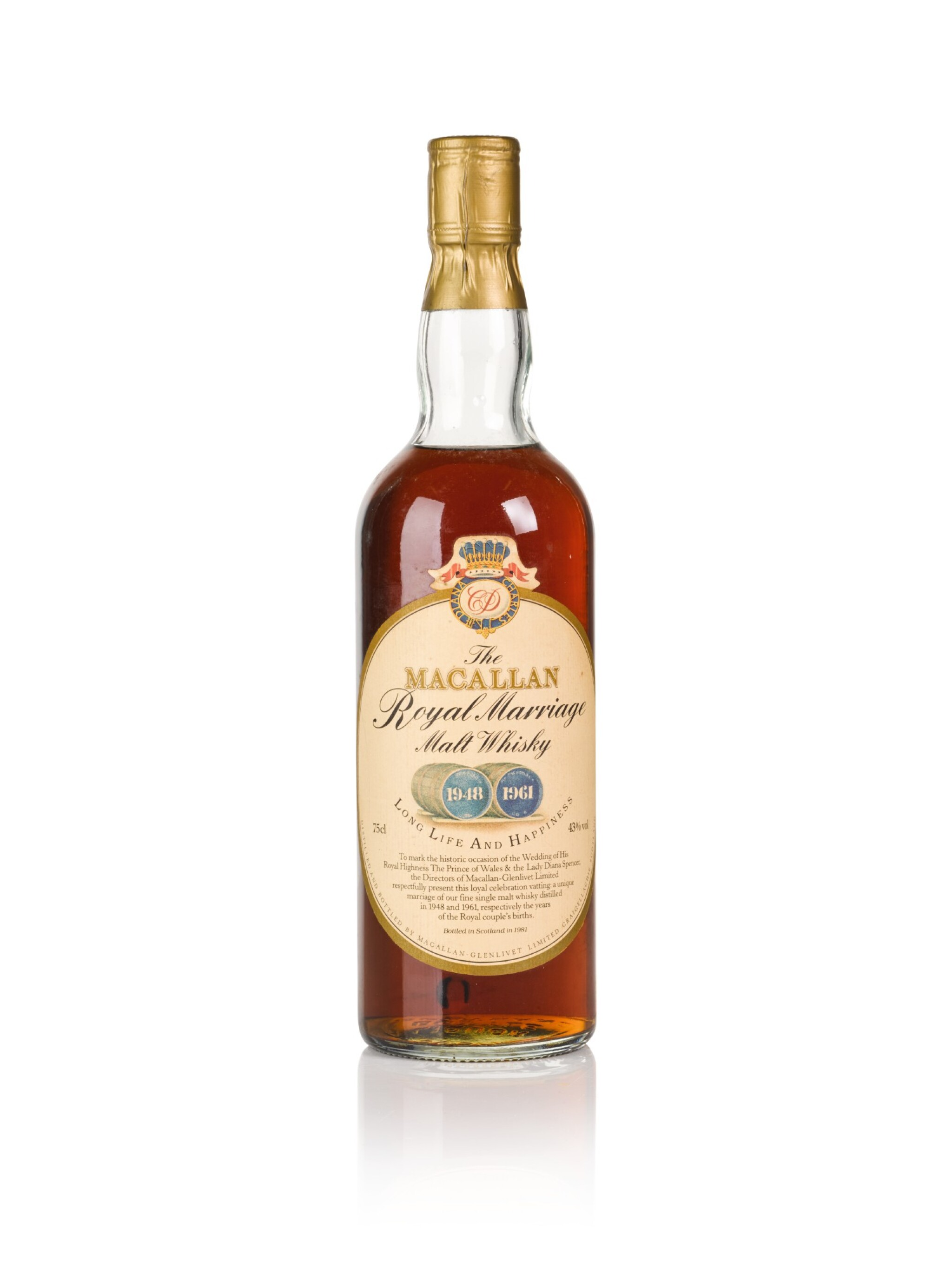 View full screen - View 1 of Lot 17. The Macallan Royal Marriage 1948 and 1961 20 Year Old 43.0 abv NV .