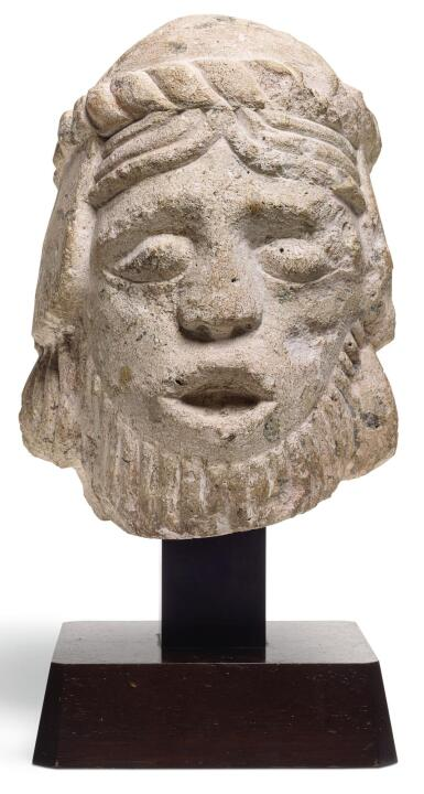 FRENCH, LE MANS, 12TH CENTURY | HEAD OF A SAINT