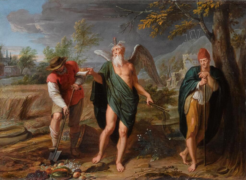 CASPAR JACOB VAN OPSTAL THE YOUNGER | An Allegory of Time, Work and Idleness