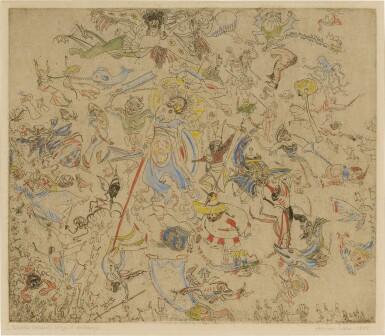 View 1. Thumbnail of Lot 88. Diables rossant anges et archanges (Delteil, Taevernier 23).