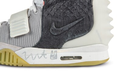 View 10. Thumbnail of Lot 38. Nike Air Yeezy 2 'Mismatch' Sample Signed by Kanye West | Size 12.