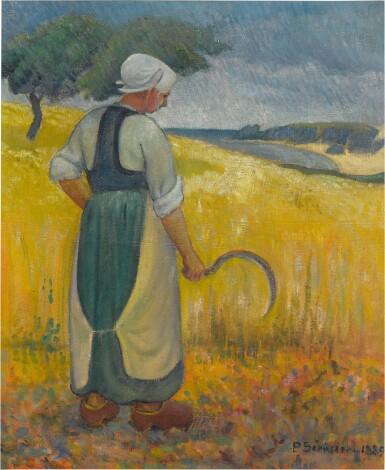 View 1. Thumbnail of Lot 31. Jeune bretonne à la faucille.