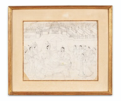 View 4. Thumbnail of Lot 70. INDE, RAJASTHAN AND PAHARI SCHOOLS, 19TH CENTURY   A DRAWING AND THREE MINIATURES.