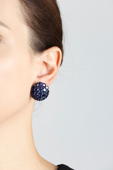 View 4. Thumbnail of Lot 89. GRAFF | PAIR OF SAPPHIRE AND DIAMOND EARRINGS.