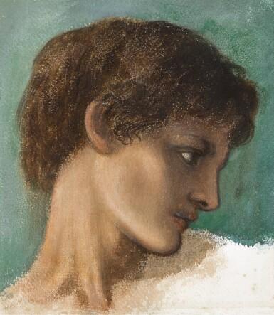 SIR EDWARD COLEY BURNE-JONES, BT., A.R.A., R.W.S. | Head of a Young Man