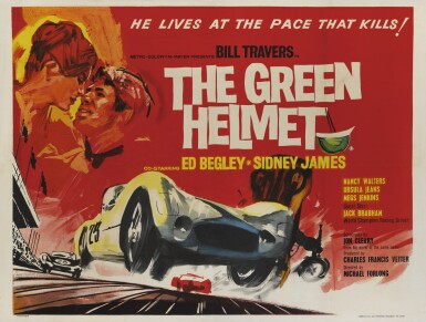 The Green Helmet (1961) poster, British