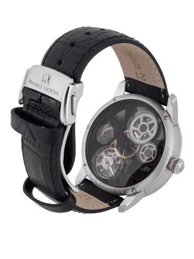 MAURICE LACROIX   MASTERPIECE, REF MP7138 STAINLESS STEEL SKELETONISED WRISTWATCH CIRCA 2013