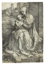 Madonna by the Wall (B. 40; M., Holl. 36)