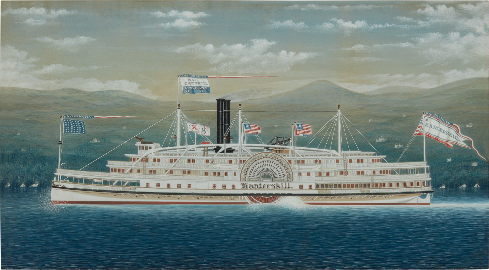 Paddle Wheeler Steamboat 'Kaaterskill'