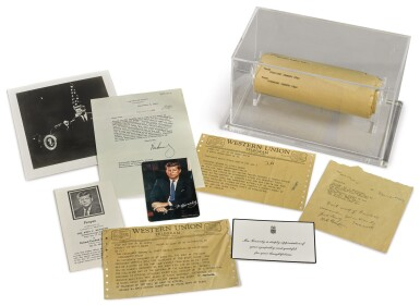 View 1. Thumbnail of Lot 2188. Kennedy, John F. An archive of material pertaining to the assassination of President Kennedy.