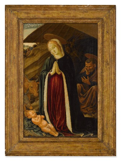 View 2. Thumbnail of Lot 10. The Adoration of the Christ Child.