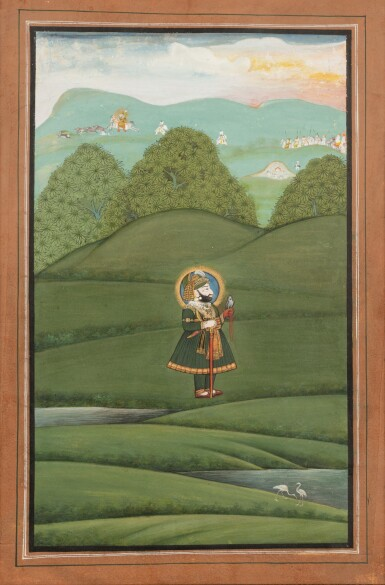 View 3. Thumbnail of Lot 68. RAJASTHAN, MEWAR, LATE 18TH CENTURY AND EARLY 19TH CENTURY | FOUR PORTRAITS OF INDIAN DIGNITARIES.