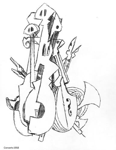 View 6. Thumbnail of Lot 172. Gem set brooch, 'Musical Motif'.