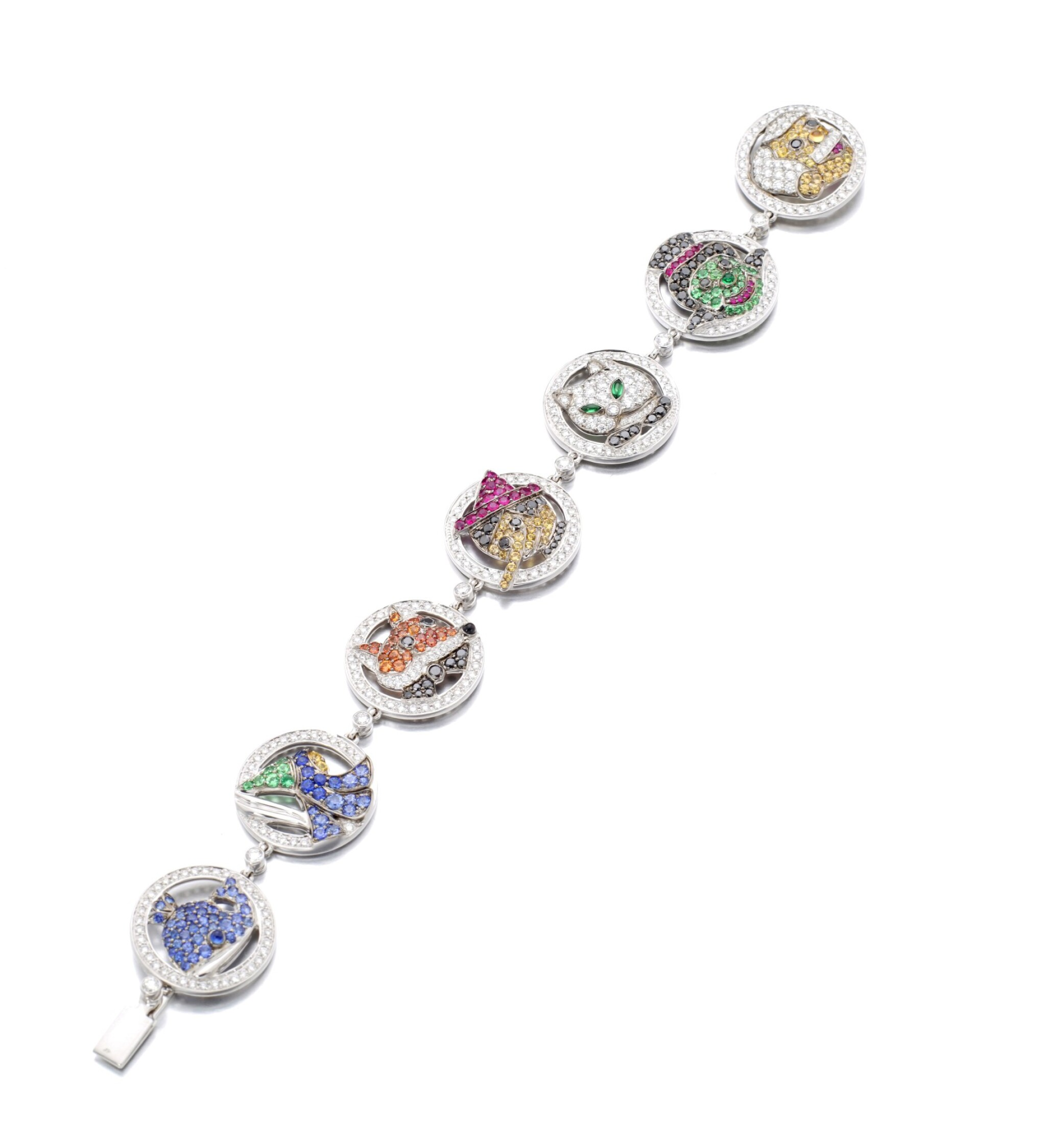 View full screen - View 1 of Lot 10. MICHELE DELLA VALLE   GEM SET AND DIAMOND BRACELET.