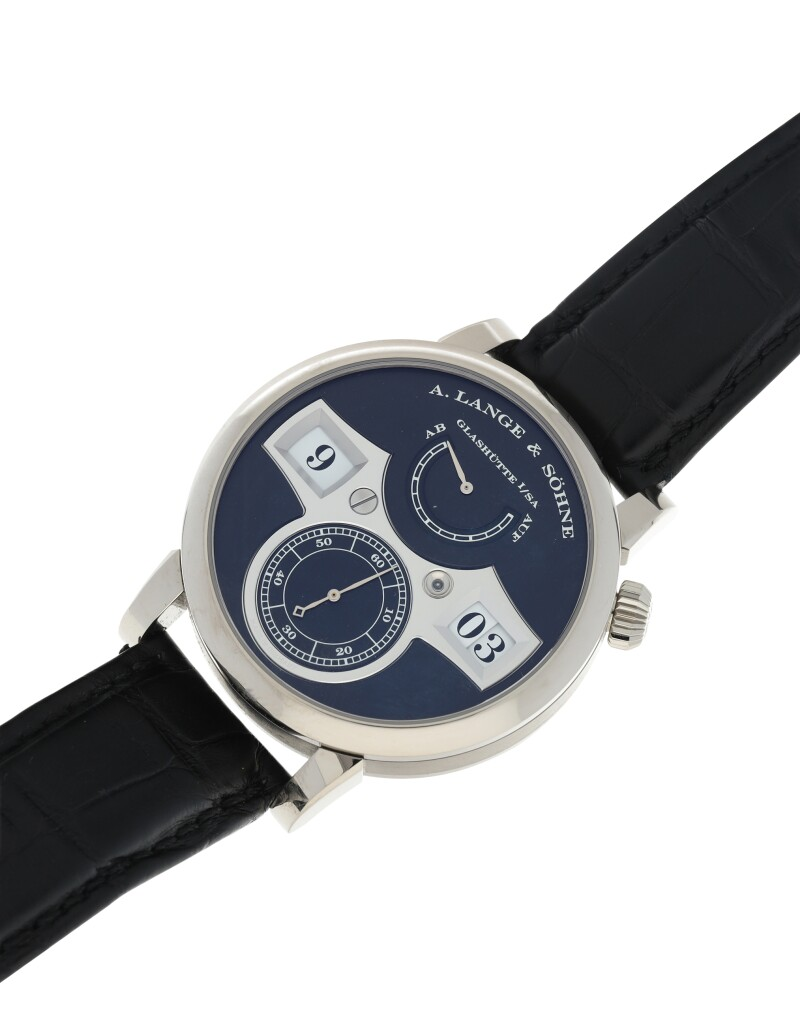 Zeitwerk, Reference 140.029  A White Gold Wristwatch with Digital Time Display and Power Reserve Indication, circa 2018