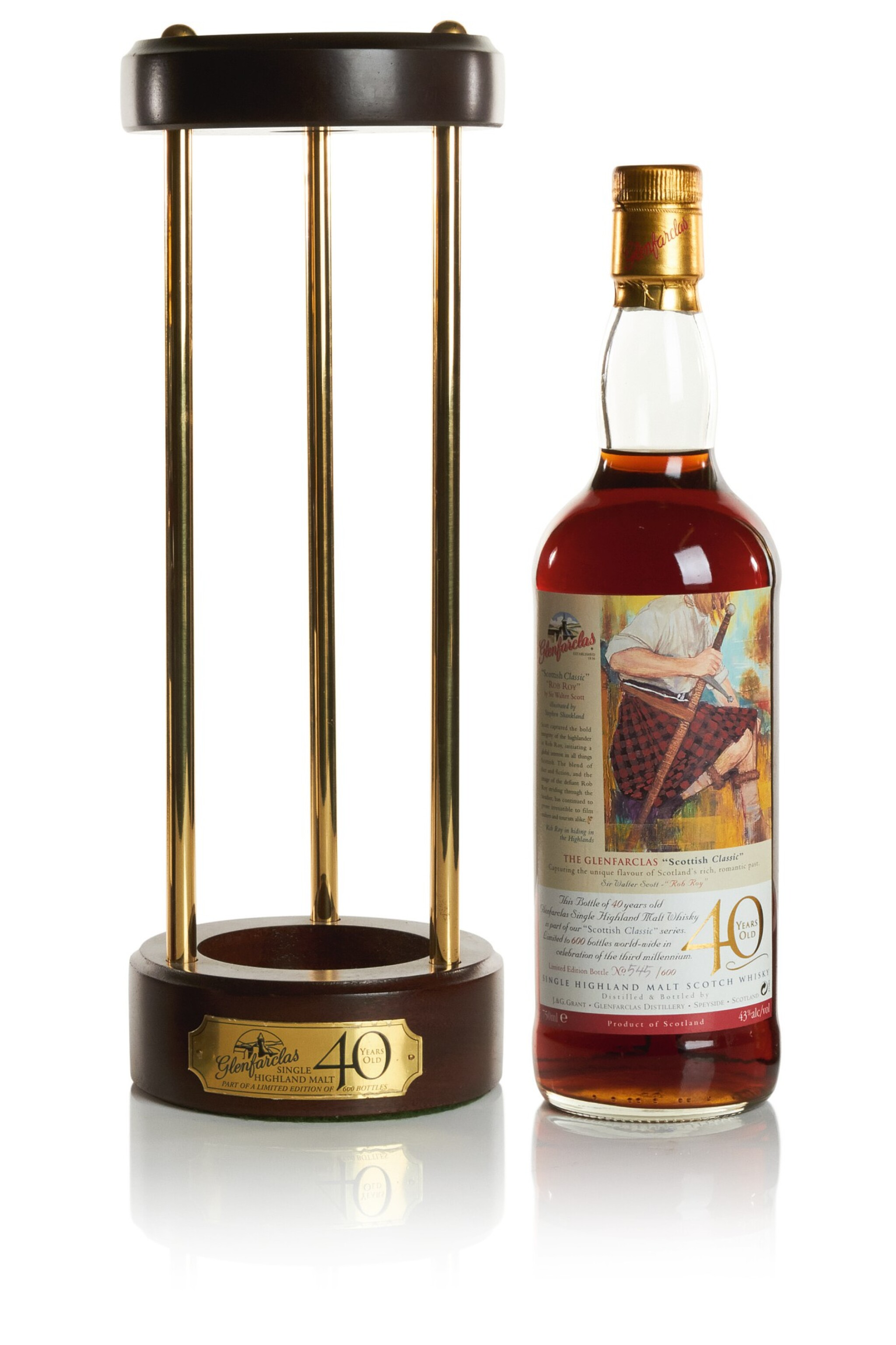 View full screen - View 1 of Lot 250. GLENFARCLAS ROB ROY 40 YEAR OLD  43.0 ABV NV   .