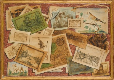 View 2. Thumbnail of Lot 35. TOMMASO CHIUSO |  A SET OF THREE TROMPE L'OEIL COMPOSITIONS.