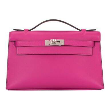 View 1. Thumbnail of Lot 15. Hermès Rose Pourpre Swift Mini Kelly Pochette.