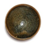AN EXQUISITE SMALL BLACK-GLAZED RUSSET-SPLASHED BOWL, NORTHERN SONG / JIN DYNASTY