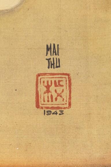 View 3. Thumbnail of Lot 1028. Mai Trung Thu 梅忠恕   Lady Writing a Poem 作詩的仕女.
