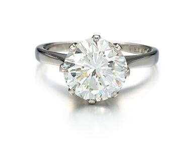 View 1. Thumbnail of Lot 9114. DIAMOND RING | 圓形 鑚石戒指.