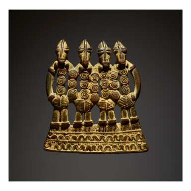 TUSYAN OR SENUFO FOUR FIGURE PENDANT, BURKINA FASO